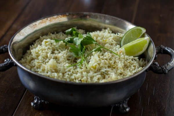 This cilantro lime rice is just like Cafe Rio's and it makes the perfect addition to any Mexican dish.