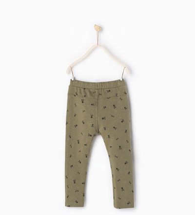 Plush skull trousers I Zara