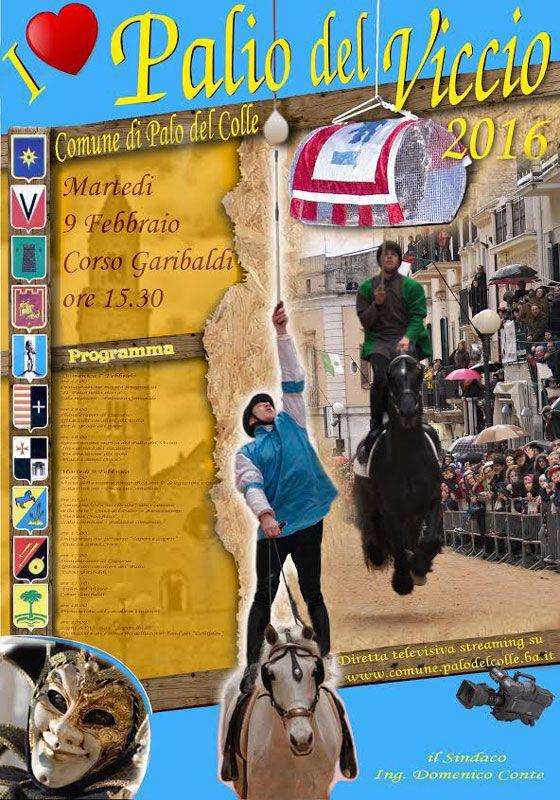 Il #Palio del Viccio, edizione 2016, martedì 9 febbraio 2016 a #Palo del Colle (Ba)