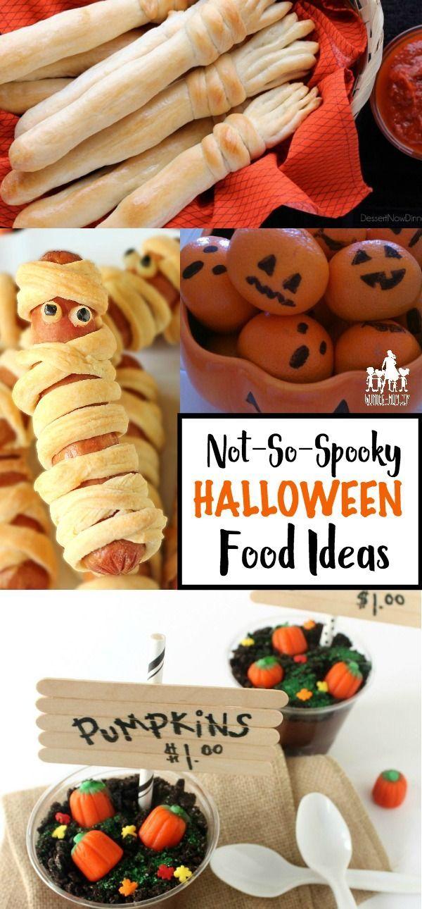 Not So Spooky Halloween Treats for Kids Halloween Pinterest - halloween party food ideas for kids