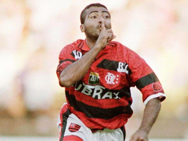 Romário no Flamengo.