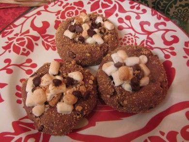 Печенье с зефиром и шоколадом