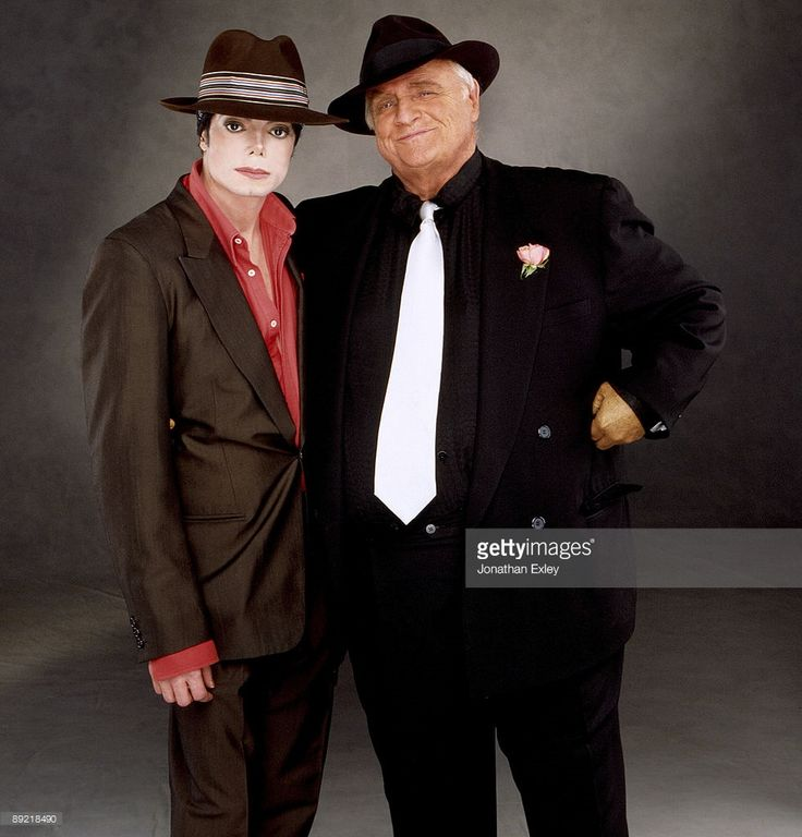 Actor Marlon Brando and Singer Songwriter Michael Jackson photographed in Los Angeles for You Rock My World promo in August 2001.