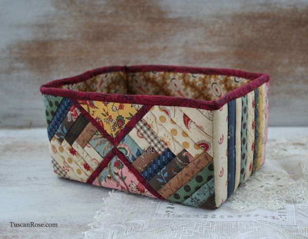 Log cabin quilt box - moda jelly roll