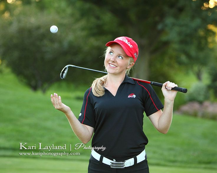 Jen | MN senior portrait photographer cute golf portrait – Kari Layland - MN portrait photographer Blog