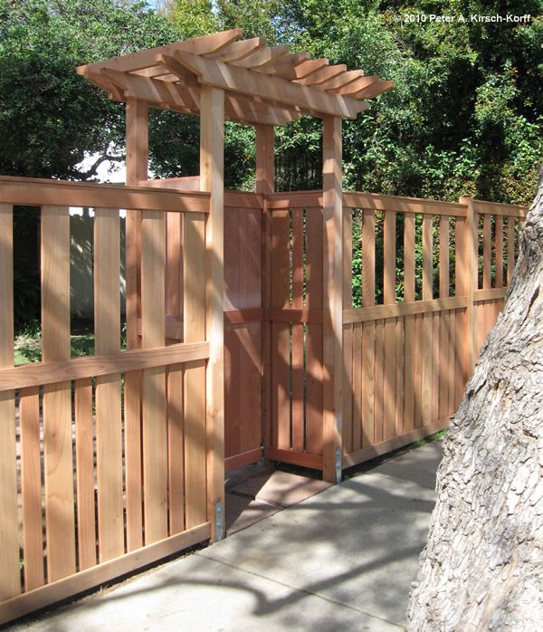 Vertical Fence & Matching Arbored Gate - West Hollywood, CA