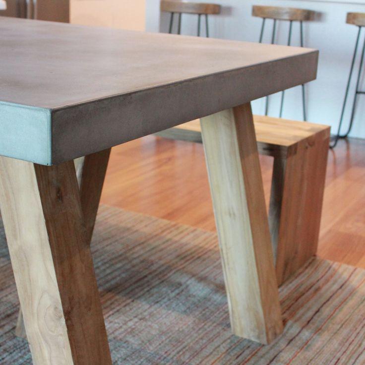 8 best Concrete/Stone Tables images on Pinterest