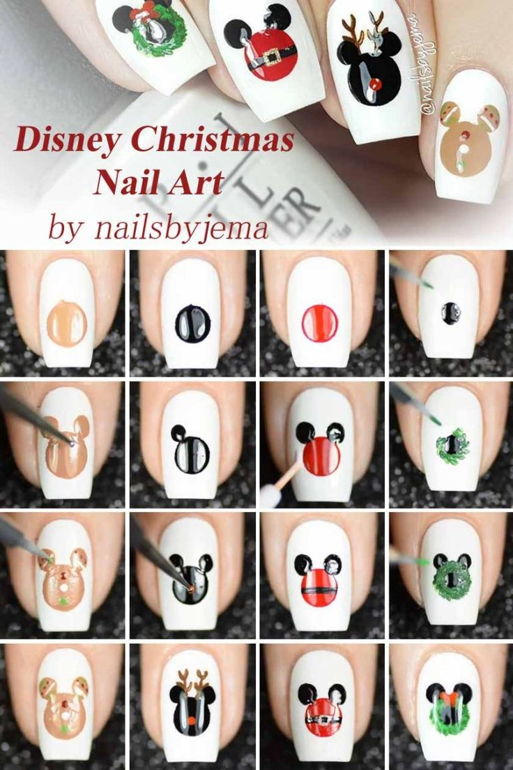Disney Christmas Nail Art