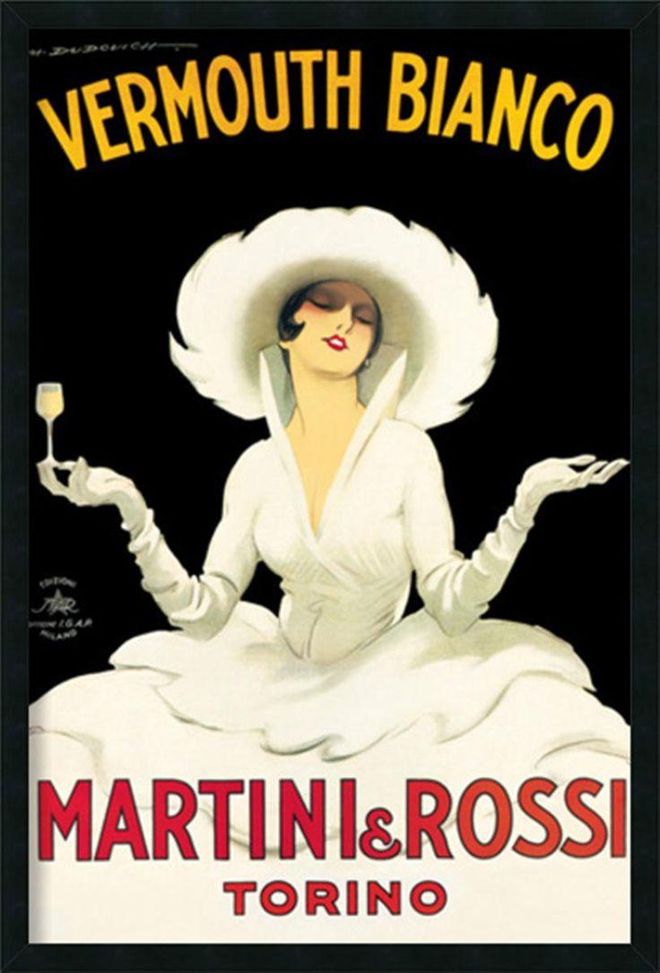 'Martini & Rossi' advertisement poster, 1921