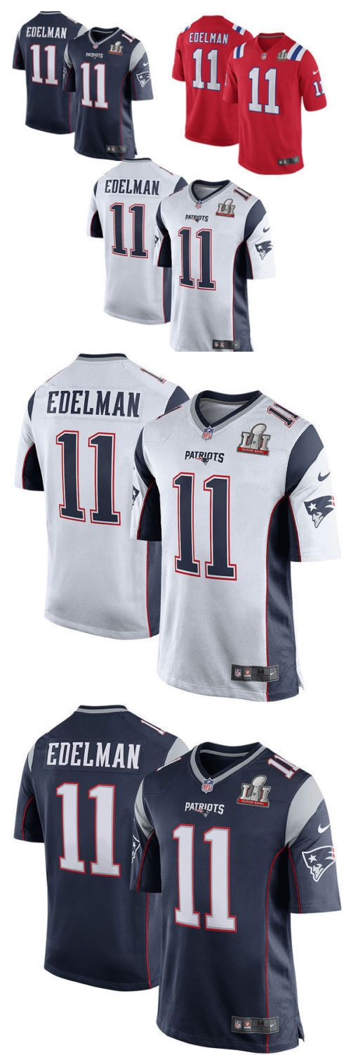 Other Fan Apparel and Souvenirs 465: Blue White #11 Julian Edelman Nfl Men S New England Patriots Jersey Super Bowl -> BUY IT NOW ONLY: $49.8 on eBay!