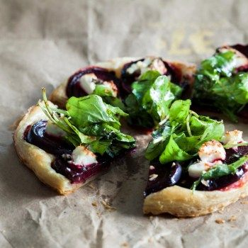 Beetroot, Thyme and Goats Cheese Tart