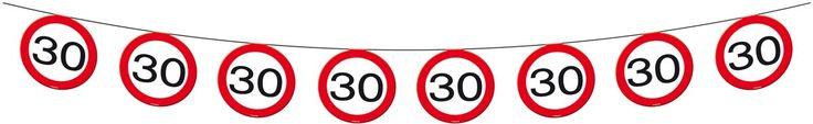Vlaggenlijn Papier Verkeersbord 30