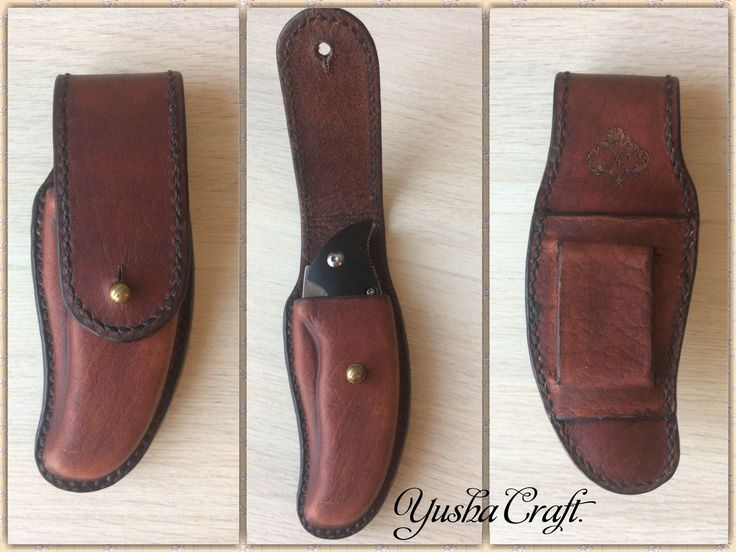 knife case.  Leather, handmade Yusha Craft.