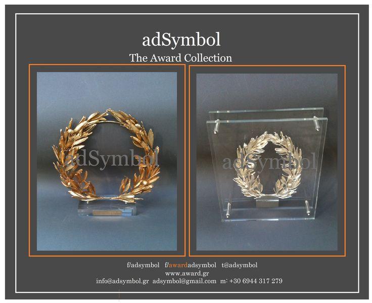 adsymbol Exclusive Gifts & Awards ΦΥΣΙΚΟ ΣΤΕΦΑΝΙ ΕΛΙΑΣ επιχρυσο - Επάργυρο με plexiglas Designer Dimitris Dimitriou Natural Olive Wreath Gold - Silver