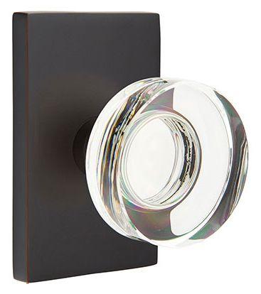 Emtek Modern Disc Crystal Knob