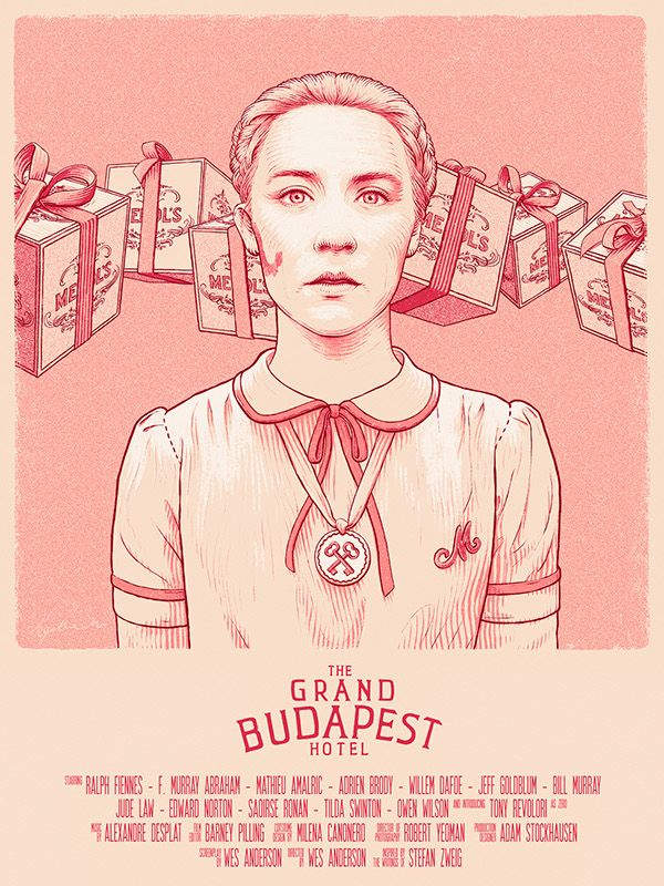 """Agatha - Grand Budapest Hotel on Behance - """"Agatha"""" poster created for Spoke Art's Bad Dads - art show tribute to the films of Wes Anderson, San Francisco, November 2014. by Bartosz Kosowski"""