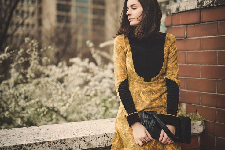 One Plus Me - fashion blog, retro dress, Jana Makroczy photography