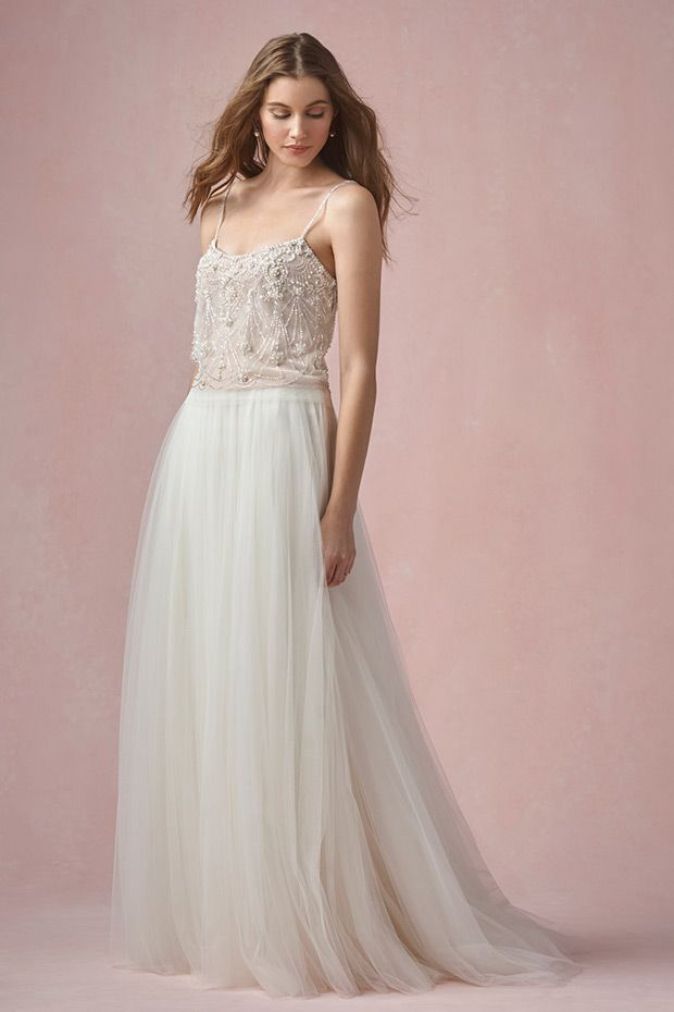 Pearl Top from Willowby by Watters wedding dresses -  Emebllished bridal seperates -  see the rest of the collection on www.onefabday.com