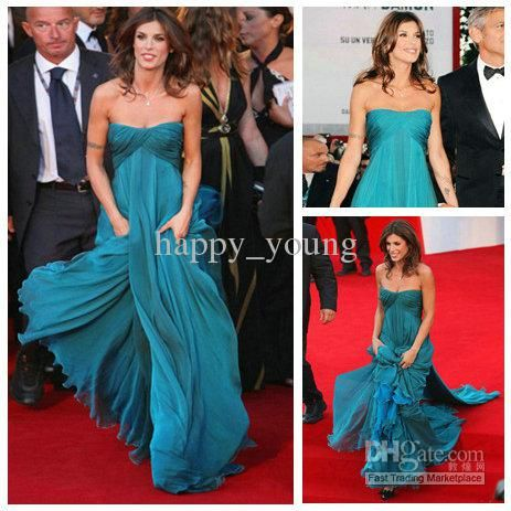 Wholesale Celebrity Dresses - Buy Popular Design Empire Elisabetta Canalis Celebrity Dresses Evening Dresses For Pregnant Women New, $128.44...
