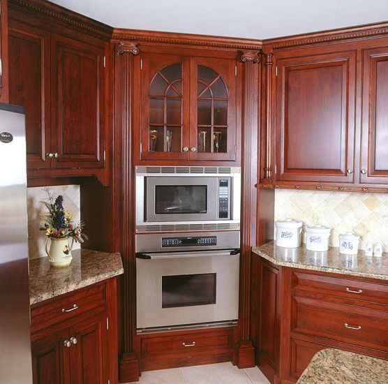 Kitchen Oven Cabinets: Corner Kitchen Ovens