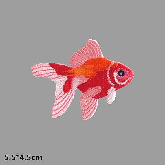 Goldfish bordado parches termoadhesivos parches termoadhesivos parche cose en el remiendo