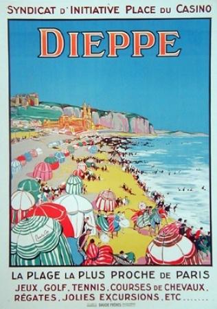 Dieppe vintage poster