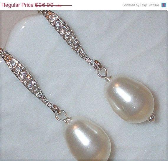 ON SALE NOW Swarovski Crystal Pearl Bridal Cz by livelovebead, $22.88