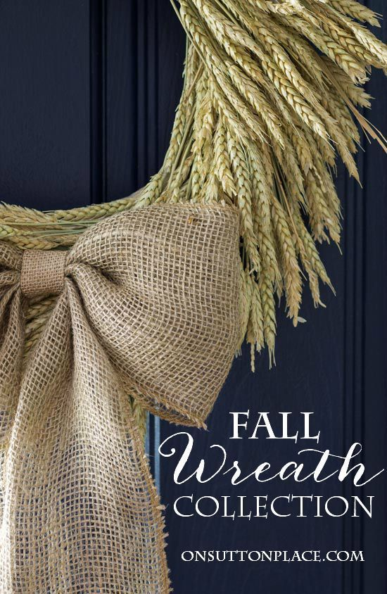 Fall Wreath Ideas and Tutorials from On Sutton Place | Easy directions with photos that show you exactly what to do.