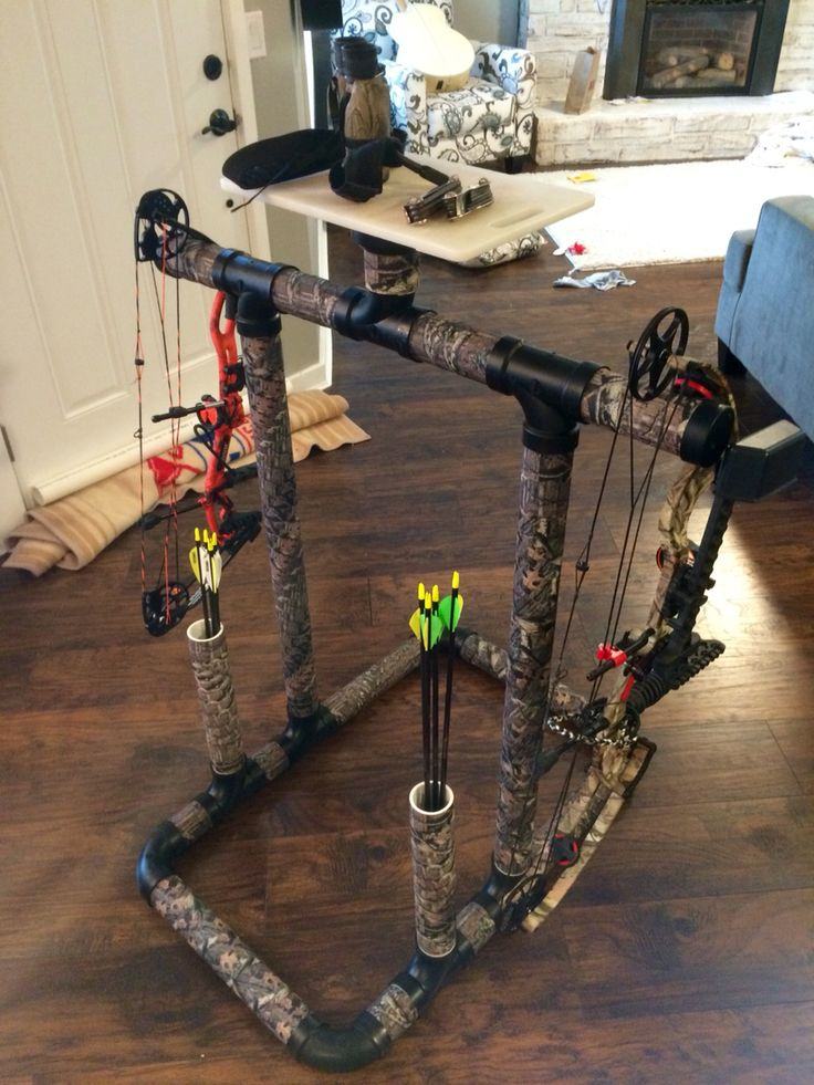 Pvc bow rack..... Camp duct tape finish!