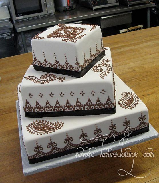 Henna cake for a wedding by HennaLounge, via Flickr