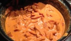 stroganoff på mitt vis, god med ris eller pasta och rivna morötter