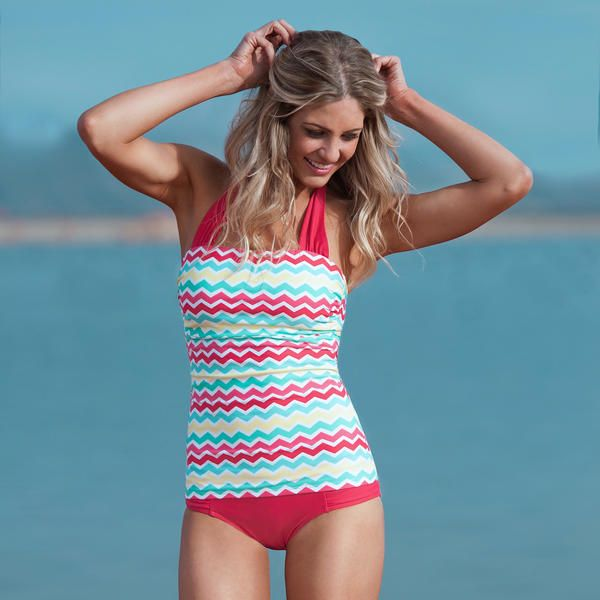 Modest swimwear that is cute AND slimming.