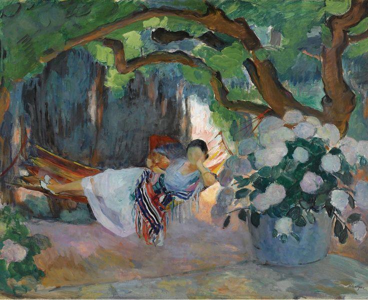 Henri+Lebasque+Young+Woman+at+Hammock%2C+1923.jpg (1024×836)