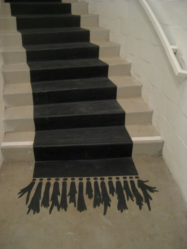 Stair Risers Ideas Painting | Painted carpet.