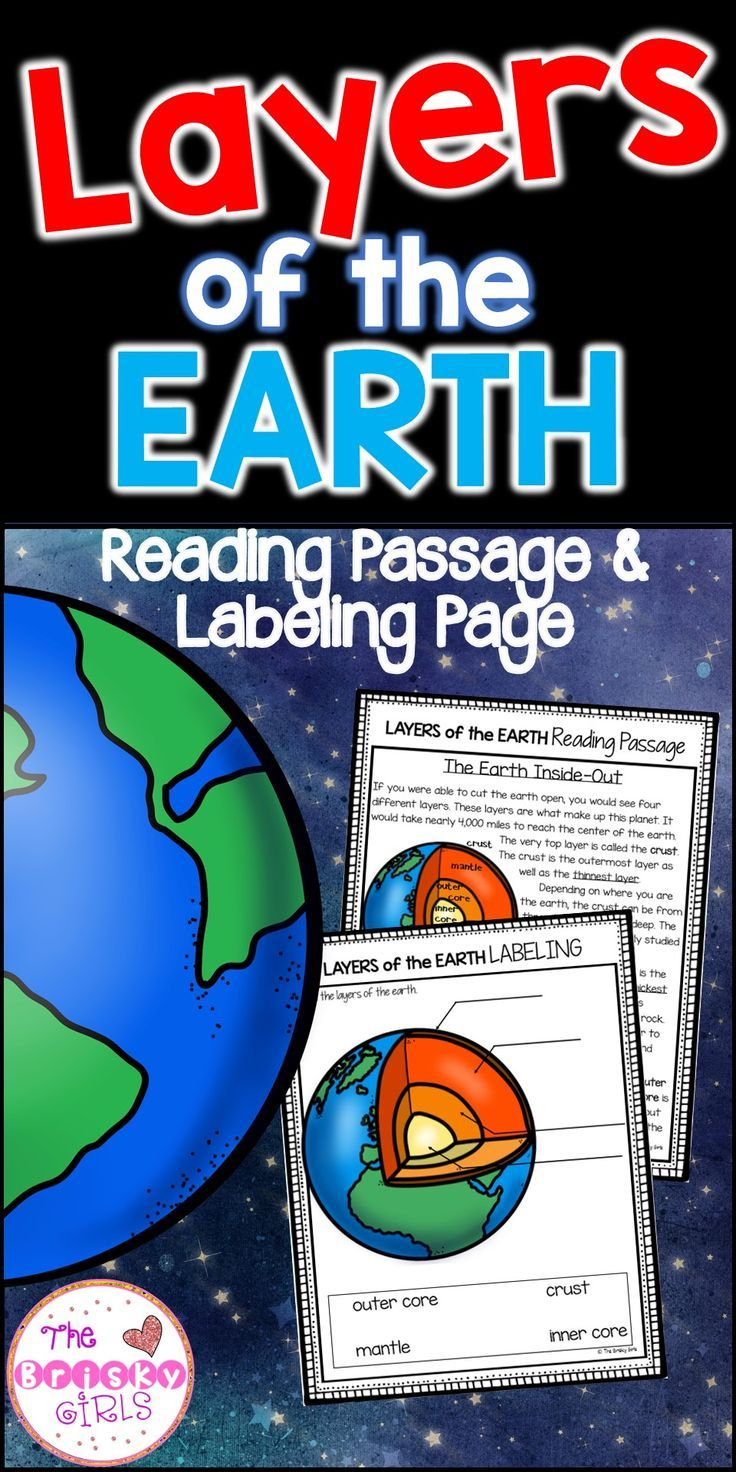 Layers Of The Earth Worksheet And Reading Passage Reading Passages Informational Reading Earth Science Projects