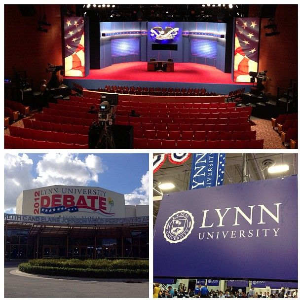 Boca Raton, Fla. and Lynn University prepare for tonight's final Presidential Debate. (Photos: Dwaine Scott @nbcnewscrew / NBC News) #NBCPolitics