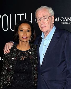 Actor Sir Michael Caine (R) and wife Shakira Caine attend the premiere of Fox Searchlight Pictures' 'Youth' at the DGA Theater on November 17, 2015 in Los Angeles, California.
