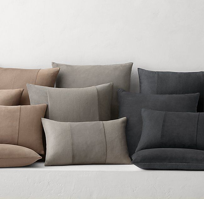 Linen Vertical Pleat Pillow Cover by
