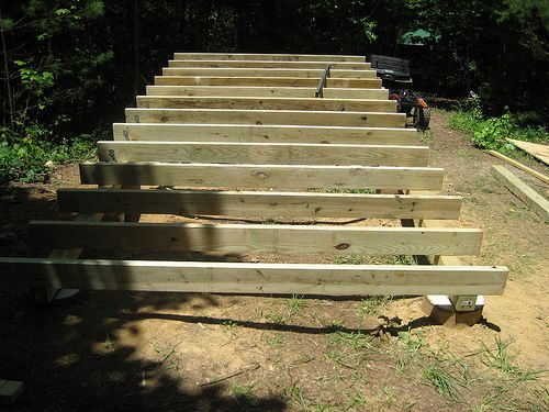 Framing life in 120 square feet our tiny house foundation for Tiny homes on foundations