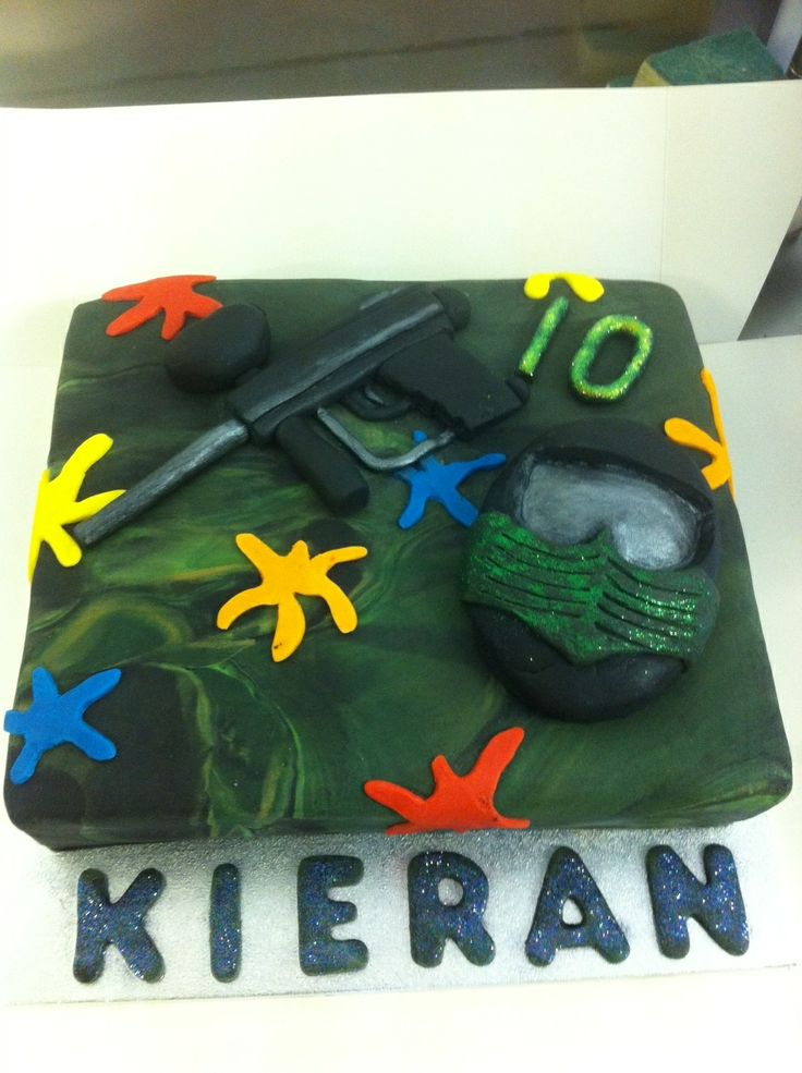 Paintball birthday party! #paintball #birthday #cake ...