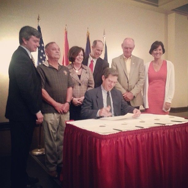 Today Commissioner Murguia was honored to stand with Senator Jeff King, Chief Mike Quinn, Rep. Kathy Wolfe Moore, Rep. Steven Johnson, and President of KSCFF Bob Wing, as Governor Sam Brownback signed the 2013 KPERS Omnibus bill at the Kansas State Council of Fire Fighters Annual Conference. Ann is proud to stand in support of better retirement benefits for public safety employees.