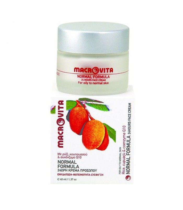 Macrovita | Normal Formula 24ωρη Κρέμα Προσώπου με Ρύζι & Συνένζυμο Q10, Ελληνική, Αγορά. | Βρείτε προϊόντα Macrovita, Προϊόντα Επανόρθωσης Δέρματος και Περιποίησης Προσώπου στο Βιολογικό Τμήμα Ομορφιάς μας σε συμφέρουσα τιμή