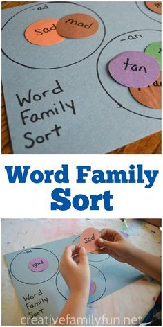 Help your child practice word families with this easy-to-make word family sort…
