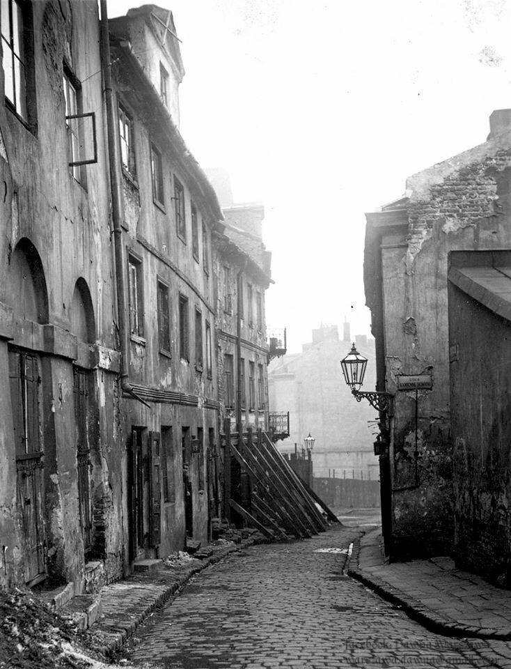 Ulica Brzozowa na Starym Mieście, lata '30 XX wieku.    fot. Dawna Warszawa