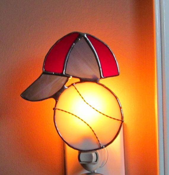 182 best stained glass nightlights images on pinterest stained baseball and hat stained glass night light authentic stained glass audiocablefo