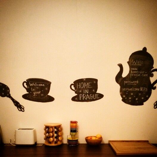 Kitchen wall blackboard