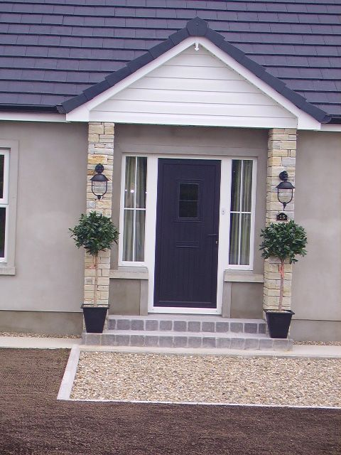 front porch brown and grey quartz - Home Designers Uk