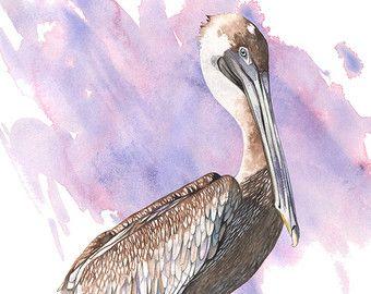 Stampa stampa archivio di pittura B029 Bluebird di LouiseDeMasi