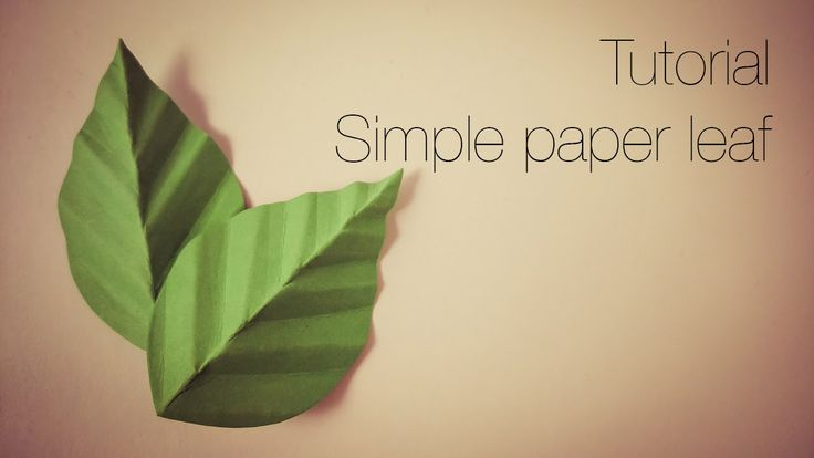 Tutorial - simple paper leaf. - YouTube                                                                                                                                                                                 More