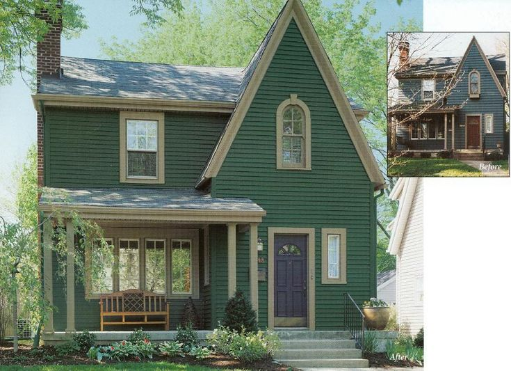 17 best images about house siding on pinterest exterior for Green siding house